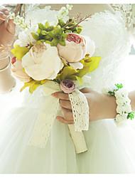 Недорогие -Свадебные цветы Букеты / Лепестки Свадьба / Свадебные прием Satin / Ткань / Цветочный бутон 11-20 cm