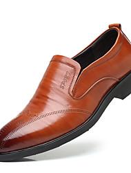 billiga -Herr Formella skor Läder Höst Oxfordskor Randig Svart / Brun / Fest / afton / Novelty Shoes