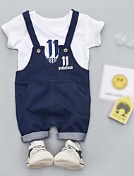 cheap -Baby Boys' Floral Short Sleeve Clothing Set