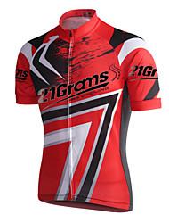 abordables -21Grams Homme Manches Courtes Maillot de Cyclisme - Jaune Rouge Classique Cyclisme Maillot Hauts / Top, Respirable Séchage rapide Anti-transpiration Coolmax® / Elastique