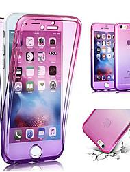 baratos -Capinha Para Apple iPhone X / iPhone 8 Translúcido Capa Proteção Completa Cores Gradiente Macia TPU para iPhone X / iPhone 8 Plus / iPhone 8