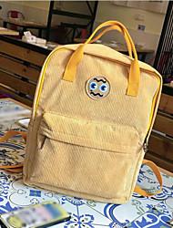 cheap -Women's Bags Polyester School Bag Zipper Beige / Gray / Yellow