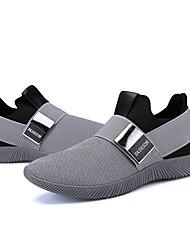 baratos -Homens sapatos Tule Primavera Conforto Mocassins e Slip-Ons Preto / Cinzento / Azul
