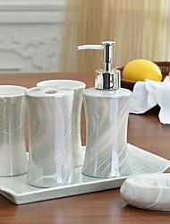Недорогие -Набор аксессуаров для ванной Новый дизайн / Креатив / Многофункциональный Современный Керамика 6шт - Ванная комната Односпальный комплект