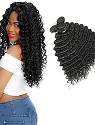 abordables -3 offres groupées Cheveux Malaisiens Ondulé Paquets de 100% Remy Hair Weave Extensions Naturelles 8-30 pouce Noir Tissages de cheveux humains Partie gratuite Brillant / Design nouveau / 100% vierge