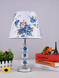 Недорогие -Традиционный / классический Декоративная Настольная лампа Назначение Гостиная / Спальня Металл 220-240Вольт Синий / Белый