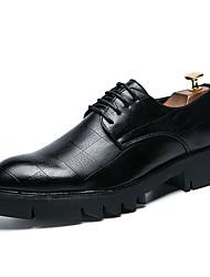 povoljno -Muškarci Cipele PU Ljeto Mokasine Oksfordice Crn / Braon