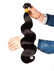 Χαμηλού Κόστους -6 πακέτα Βραζιλιάνικη Κυματιστό / Κυματομορφή Σώματος Φυσικά μαλλιά / Χωρίς επεξεργασία Ανθρώπινη Τρίχα Δώρα / Τεμάχια Κεφαλής / Υφάνσεις ανθρώπινα μαλλιών 8-28 inch Μαύρο Φυσικό Χρώμα