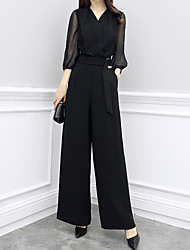 cheap -Women's Sophisticated Street chic Jumpsuit - Solid Colored