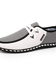 baratos -Homens Sapatos Confortáveis Couro Ecológico Primavera / Outono Formais Tênis Caminhada Preto / Verde / Azul / Combinação / Ao ar livre / Solas Claras
