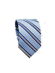 abordables -Homme Coton / Polyester Travail / Basique Cravate Rayé / Couleur Pleine / Toutes les Saisons