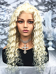 cheap -Remy Human Hair Lace Front Wig Wig Brazilian Hair / Loose Wave Wavy 130% Density Women's Long Human Hair Lace Wig