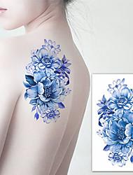 Недорогие -3 pcs Временные тату Временные татуировки Тату с цветами Искусство тела рука / плечо