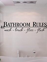 Недорогие -Наклейки и ленты / Стикер для ванной Простой / Водонепроницаемый / Самоклеющиеся Обычные / Модерн ПВХ 1шт Украшение ванной комнаты
