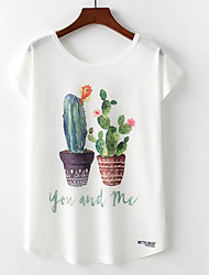 cheap -Women's Going out T-shirt - Floral