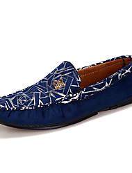 abordables -Homme Chaussures Toile / Polyuréthane Eté Confort Mocassins et Chaussons+D6148 Noir / Rouge / Bleu / Soirée & Evénement