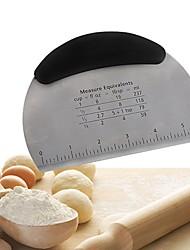 abordables -demi-cercle couteau à raclette en acier inoxydable avec échelle gâteau coupe-pizza farine couteau à pain
