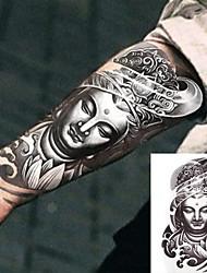 baratos -Adesivo / Etiqueta do tatuagem Tatuagens temporárias Séries Totem Braço 3 pcs