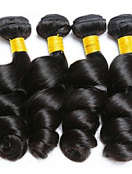 cheap -Mongolian Hair / Loose Wave Wavy Gifts / Cosplay Suits / Natural Color Hair Weaves 4 Bundles 8-28 inch Human Hair Weaves Machine Made Waterfall / Classic / Hot Sale Natural Black Human Hair Extensions