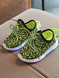 cheap -Boys' / Girls' Shoes Elastic Fabric Spring / Fall Comfort / Light Up Shoes Sneakers Lace-up / LED for Kids / Baby Red / Green / Blue