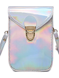 cheap -Women's Bags PU(Polyurethane) Shoulder Bag Buttons Silver