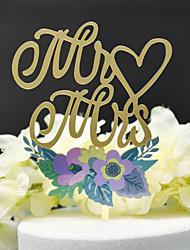 Недорогие -Украшения для торта Классика / Свадьба Аппликация Acryic / полиэстер Свадьба / Годовщина с Акрил 1 pcs Пластмассовая коробка