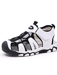 Недорогие -Мальчики Обувь Полиуретан Лето Удобная обувь Сандалии Для прогулок На липучках для Дети Белый / Черный