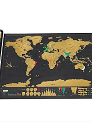 cheap -World Map, 120g / m2 Polyester Knit Stretch Modern Contemporary for Home Decoration Gifts 1pc