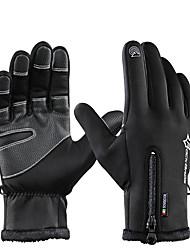 cheap -ROCKBROS Full Finger Unisex Motorcycle Gloves Flannel Waterproof / Keep Warm / Breathable