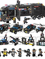 cheap -Building Blocks 1095 pcs Vehicles Decompression Toys / Parent-Child Interaction Gift