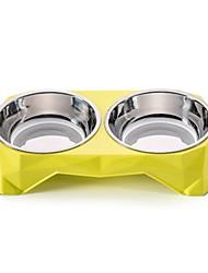 Недорогие -300 L Собаки / Кролики / Коты Миски и бутылки с водой / Кормушки / Хранение продуктов питания Животные Чаши и откорма Водонепроницаемость / Компактность / Прочный Зеленый / Синий / Розовый