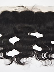 cheap -Yavida Eurasian Hair / Body Wave 4x13 Closure Wavy Free Part Swiss Lace Human Hair All With Baby Hair / Soft / For Black Women Party / Special Occasion / Halloween