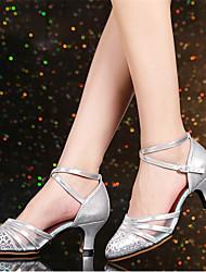 economico -Per donna Scarpe per danza moderna Poliestere Tacchi Tacco cubano Personalizzabile Scarpe da ballo Argento / Rosso / Cachi