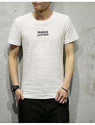 abordables -Hombre Vintage Borla Camiseta Un Color Azul y Blanco