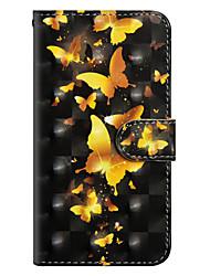 Недорогие -Кейс для Назначение Xiaomi Redmi Note 5 Pro / Redmi 4X Кошелек / Бумажник для карт / со стендом Чехол Бабочка Твердый Кожа PU для Redmi Note 5A / Xiaomi Redmi Note 5 Pro / Xiaomi Redmi Note 4X