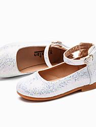abordables -Fille Chaussures Polyuréthane Eté Confort Ballerines Scotch Magique pour Enfants Argent / Bleu / Rose