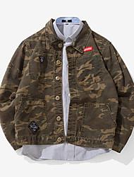 cheap -Men's Military Jacket - Creative