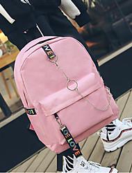 cheap -Men's Bags Canvas School Bag Zipper Black / Blushing Pink / Gray