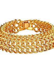 cheap -Men's Layered Bracelet - Fashion Bracelet Gold / Silver For Gift / Daily