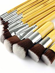 baratos -11pçs Pincéis de maquiagem Profissional Escova de Fibra Artificial Amiga-do-Ambiente / Profissional / Macio Bambu / De madeira / bambu