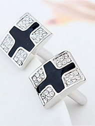 cheap -Cubic Black / Red / Blue Cufflinks Alloy Dresswear Men's Costume Jewelry For Daily / Formal