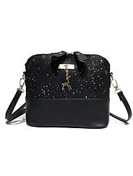 cheap -Women's Bags ABS+PC Shoulder Bag Sequin / Zipper Gray / Brown / Wine