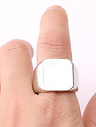 cheap -Men's Band Ring - Simple, Fashion, Steampunk 8 / 9 / 10 Silver For Gift / Daily