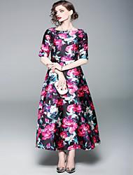 Недорогие -Жен. Классический Оболочка Платье - Геометрический принт, С принтом Макси