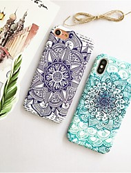 cheap -Case For Apple iPhone X / iPhone 6 Pattern Back Cover Mandala Hard PC for iPhone X / iPhone 8 Plus / iPhone 8