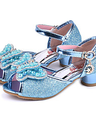 cheap -Girls' Shoes Sparkling Glitter Spring / Summer Comfort / Novelty / Flower Girl Shoes Sandals Rhinestone / Bowknot / Pearl for Purple / Blue / Pink / Peep Toe / Wedding