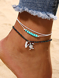 cheap -Turquoise Anklet - Turtle Bohemian, Fashion Turquoise For Holiday / Bikini / Women's