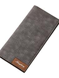 cheap -Men's Bags PU(Polyurethane) Wallet Split Front Black / Gray / Brown
