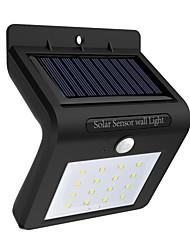 Недорогие -1шт 0.5 W Светодиодный уличный фонарь / Солнечный свет стены Работает от солнечной энергии / Инфракрасный датчик / Водонепроницаемый Белый 3.7 V Уличное освещение / двор / Сад