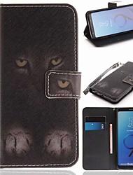 abordables -Coque Pour Samsung Galaxy S9 Portefeuille / Porte Carte / Avec Support Coque Intégrale Animal Dur faux cuir pour S9